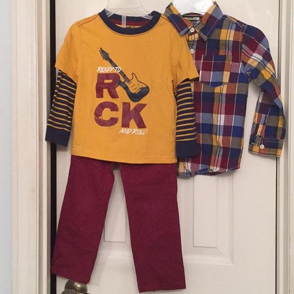 Crazy 8 Boy's Toddler (3 Pieces-Pant,Tee,Shirt)